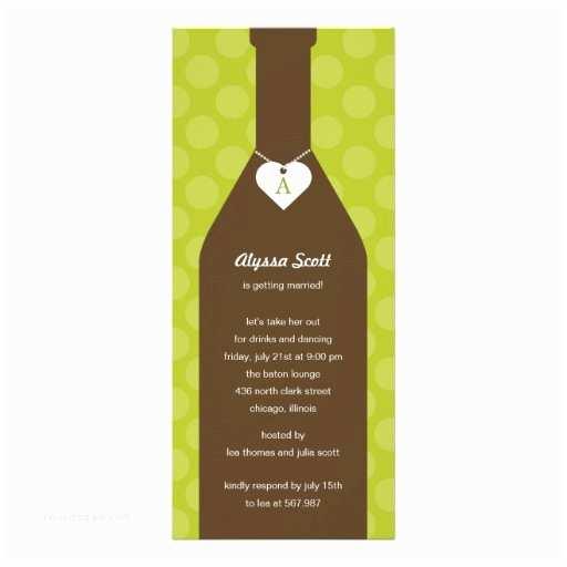 Wine Bottle Wedding Invitations Wine Bottle Bridal Shower Invitations Lime
