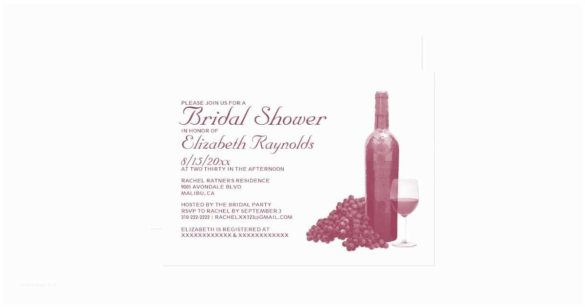 Wine Bottle Wedding Invitations Wine Bottle Bridal Shower Invitations