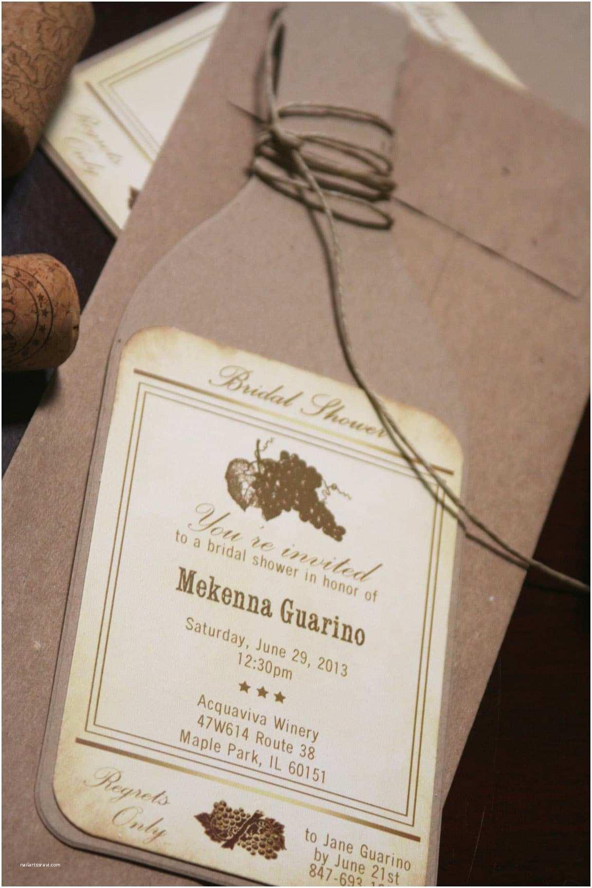 Wine Bottle Wedding Invitations Wine Bottle Bridal Shower Invitations too Chic & Little