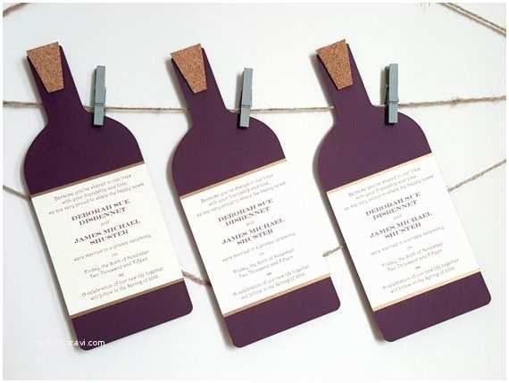 Wine Bottle Wedding Invitations Wine Bottle Invitations Custom Wine Bottle by Courtlyniverson