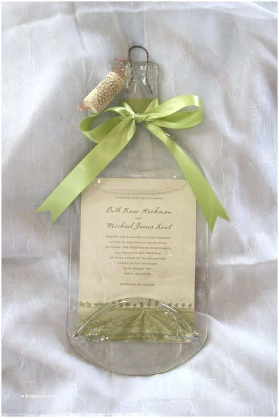 Wine Bottle Wedding Invitations Wine Bottle Wedding Invitation Keepsake with by