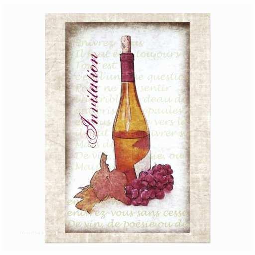 Wine Bottle Wedding Invitations Wine Bottle with Grapes Invitation
