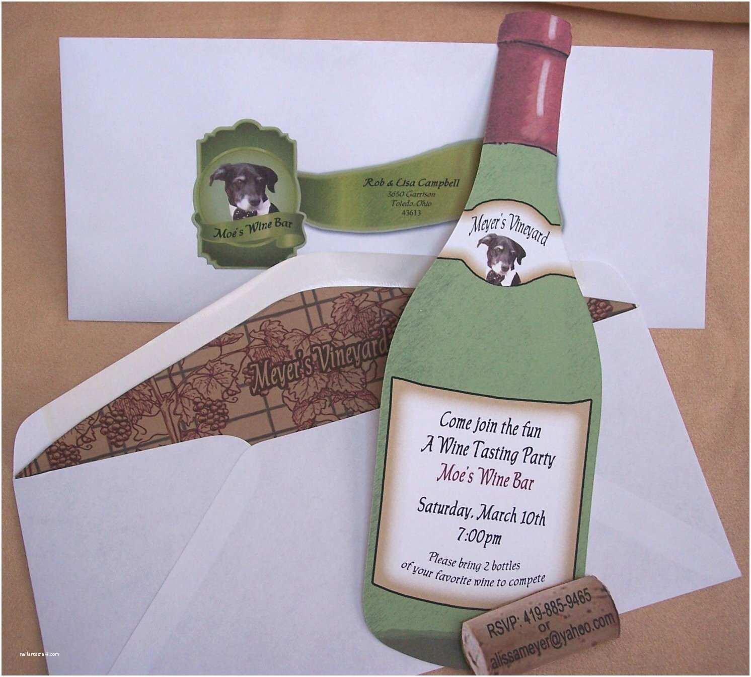 Wine Bottle Wedding Invitations Wine Shaped Invitations