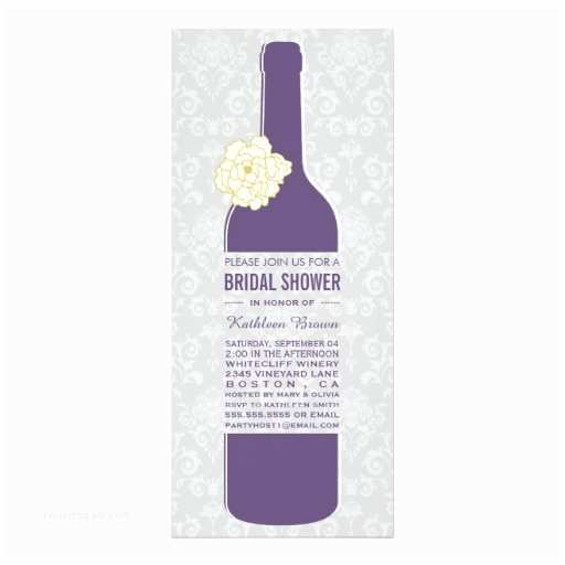 Wine Bridal Shower Invitations Elegant Wine Bridal Shower Invitations