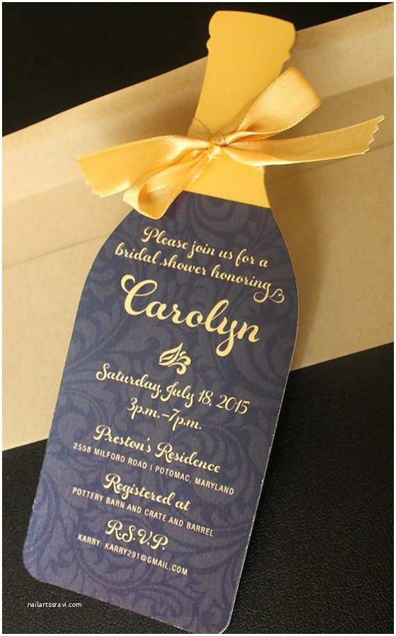 Wine Bridal Shower Invitations Wine Bottle Invitation Die Cut Wine Bottle Invitation Wine