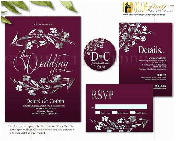 Wine Colored Wedding Invitations 17 Best Ideas About Burgundy Silver Wedding On Pinterest