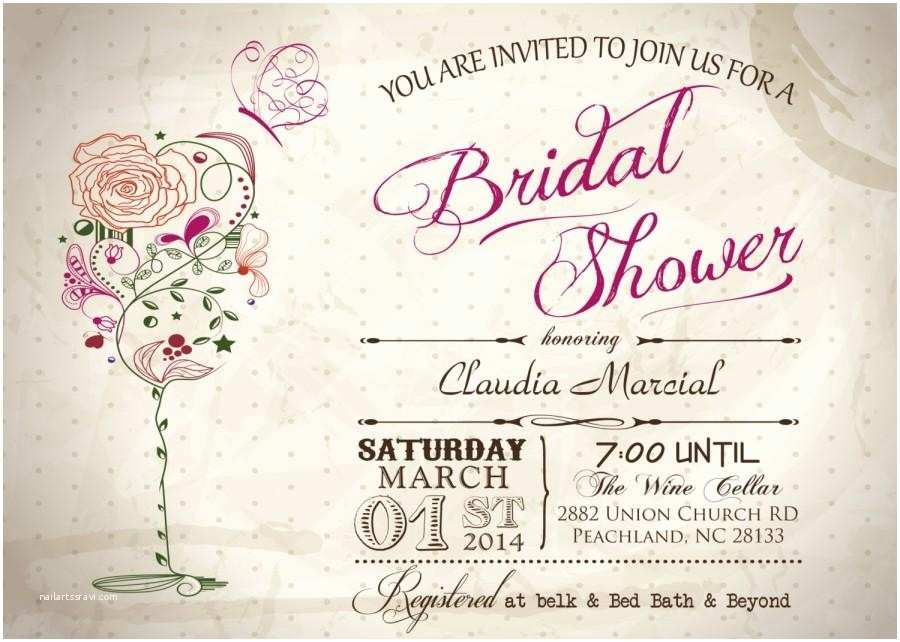 Wine Colored Wedding Invitations Vintage Wine & butterfly Bridal Shower Printable