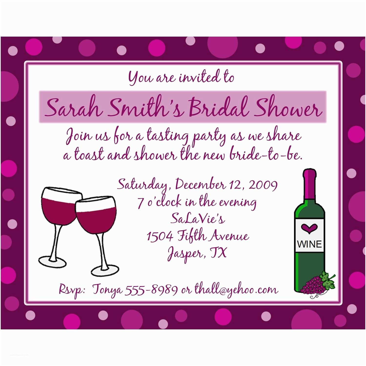Wine themed Bridal Shower Invitations 20 Personalized Bridal Shower Invitations Wine theme