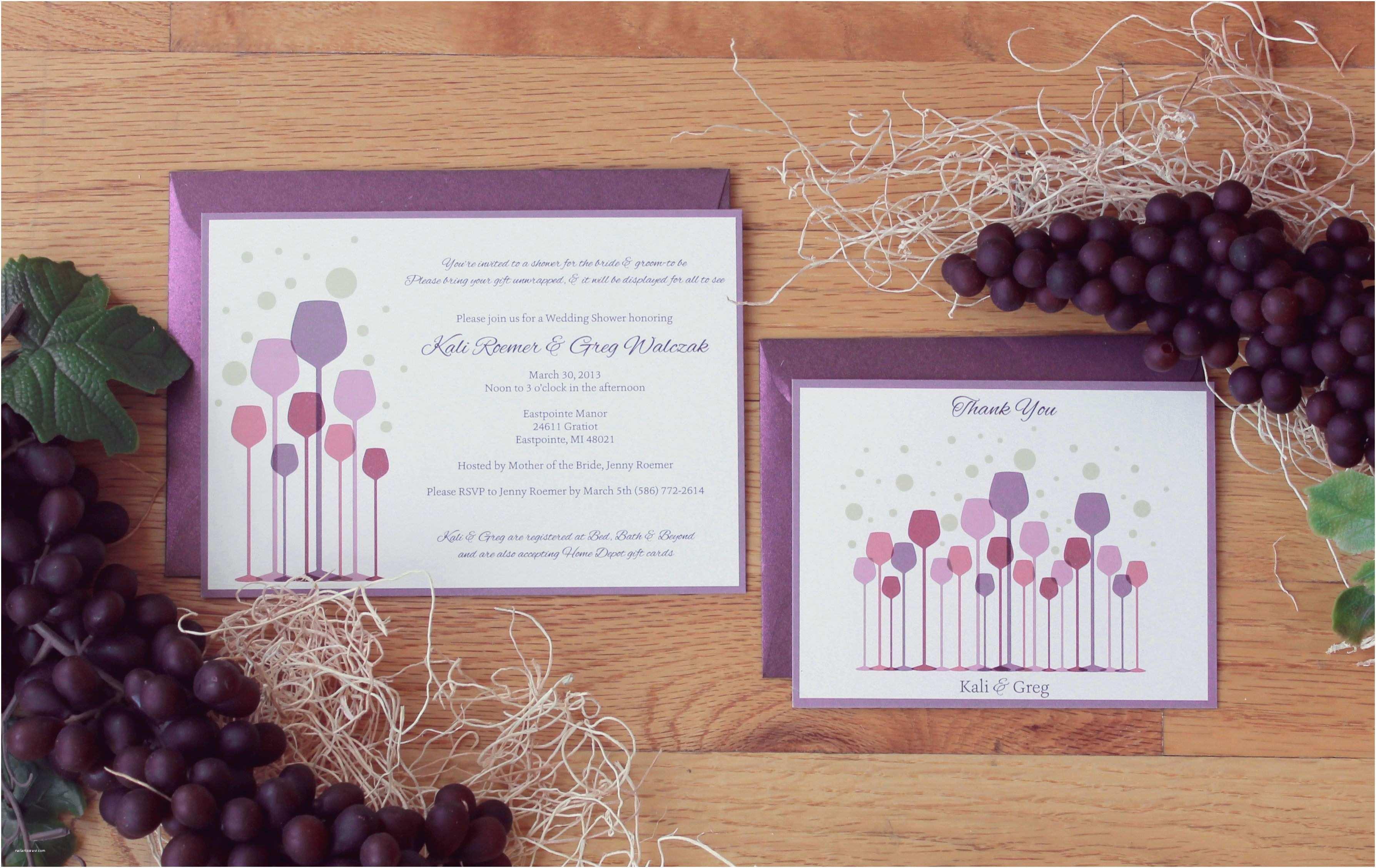 Wine themed Bridal Shower Invitations Bridal Shower Wine themed Bridal Shower Invitations