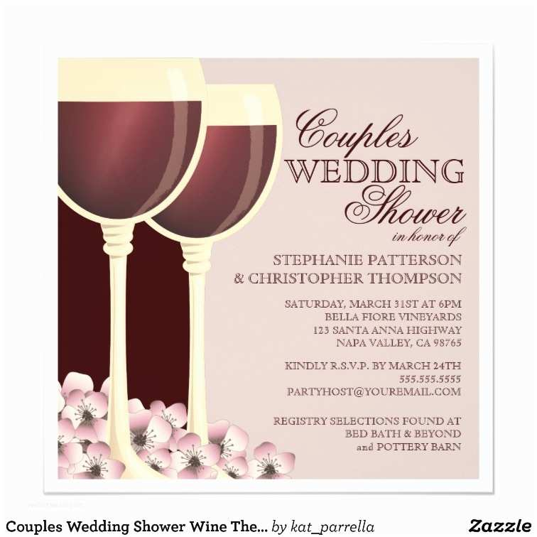 Wine themed Bridal Shower Invitations Couples Wedding Shower Wine themed Invitation