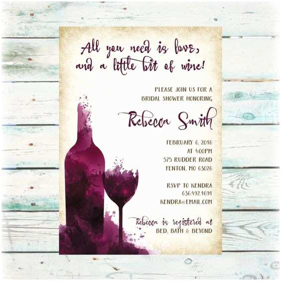 Wine themed Bridal Shower Invitations Diy Wine Party Bridal Shower Invitation Digital File