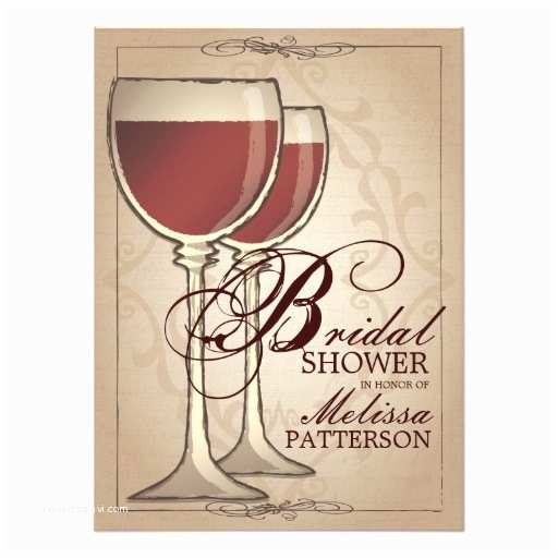 Wine themed Bridal Shower Invitations Elegant Wine themed Bridal Shower Invitation