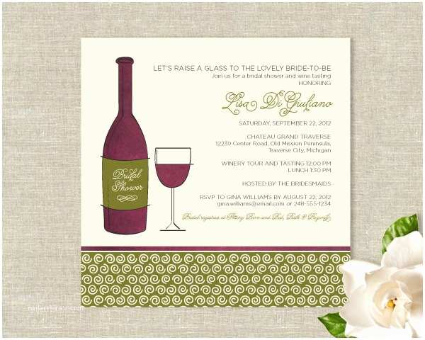 Wine themed Bridal Shower Invitations Items Similar to Wine theme Bridal Shower Invitations