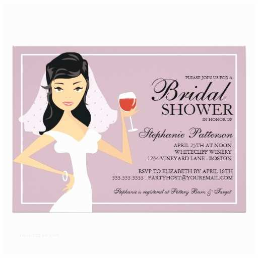 Wine themed Bridal Shower Invitations Modern Bride Wine theme Bridal Shower Invitation