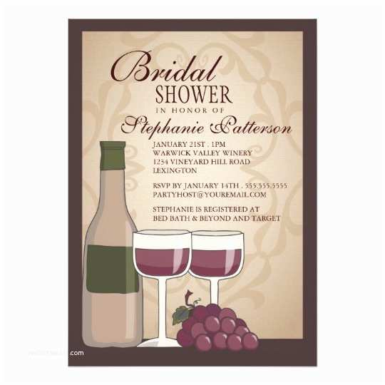 Wine themed Bridal Shower Invitations Tuscan Bridal Shower Wine themed Invitation