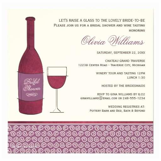 Wine themed Bridal Shower Invitations Wedding Bridal Shower Invites