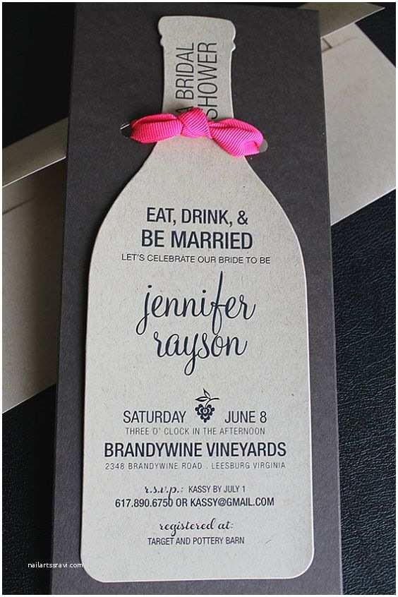 Wine themed Bridal Shower Invitations Wine Bottle Invitation Wine Invites