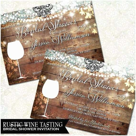 Wine themed Bridal Shower Invitations Wine Bridal Shower Invite Vineyard Wedding Winery Wedding