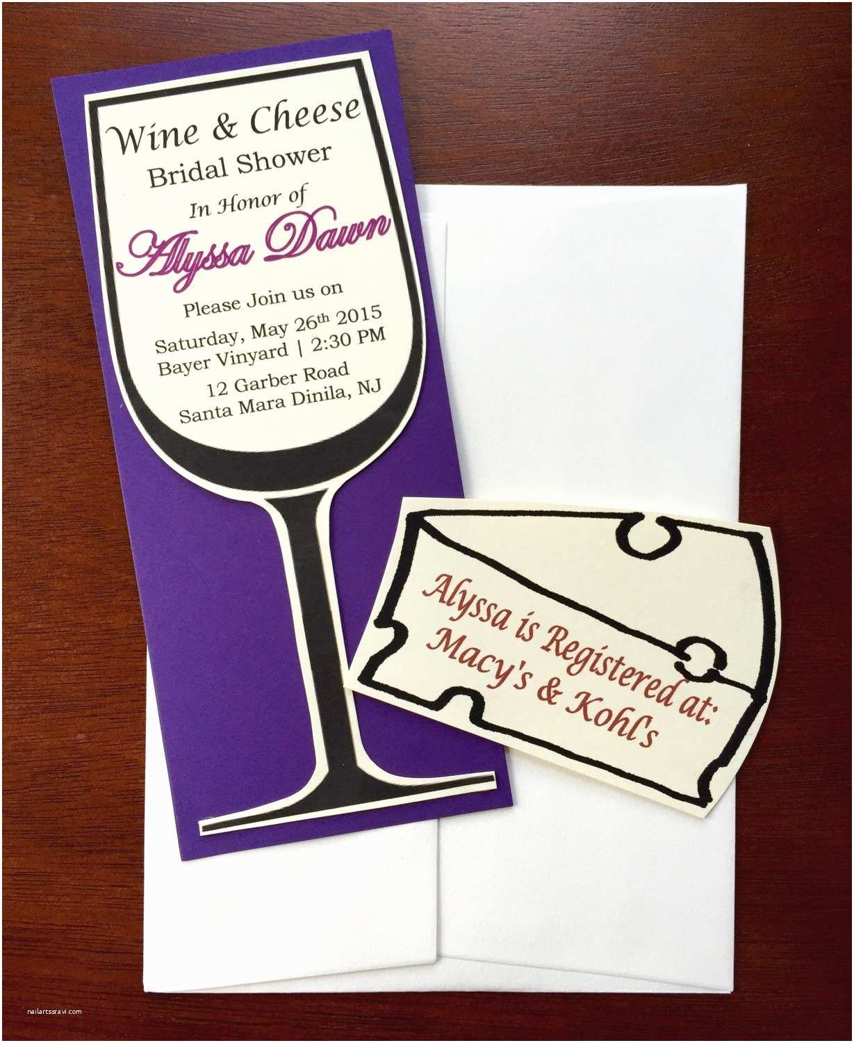 Wine themed Bridal Shower Invitations Wine Glass Bridal Shower Invitations Wine and Cheese theme