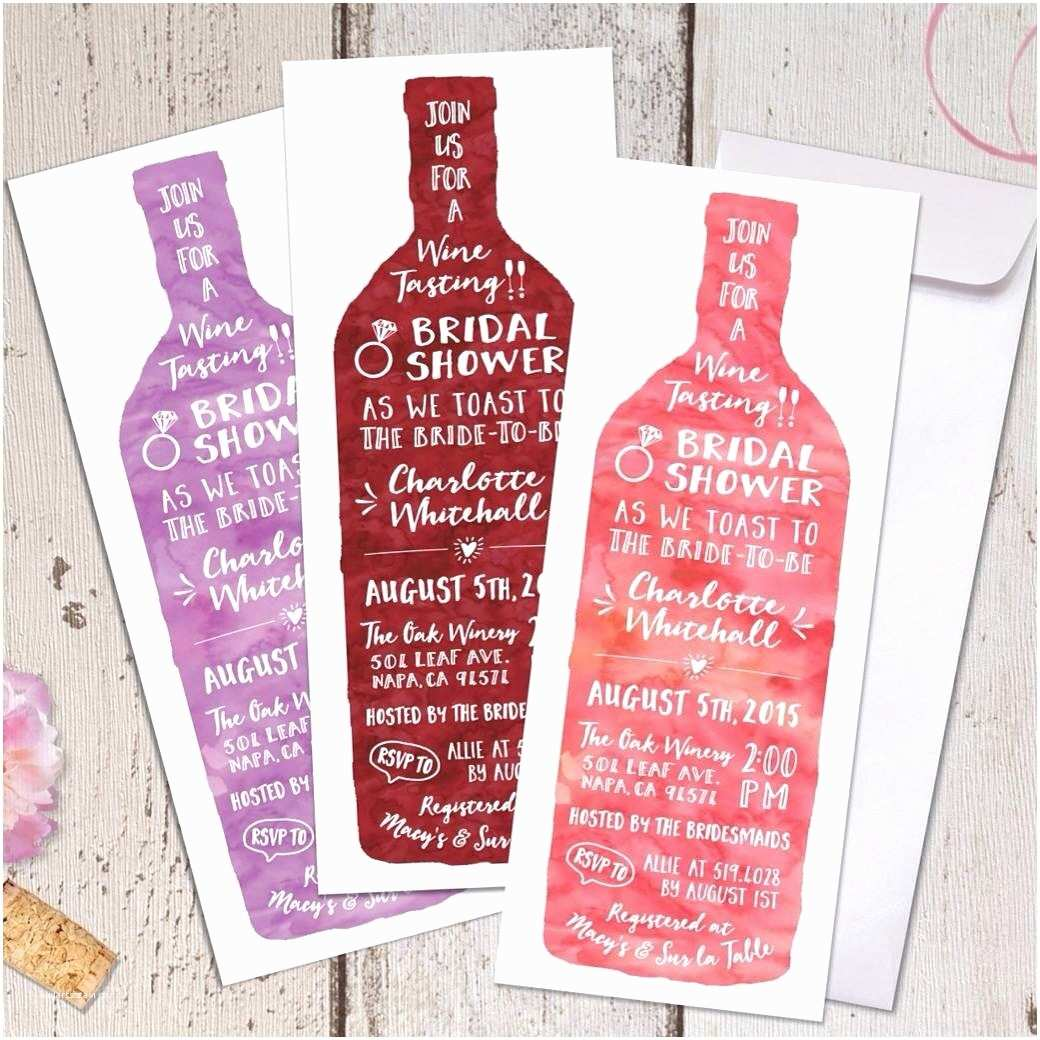 Wine themed Bridal Shower Invitations Wine Tasting theme Bridal Shower Invitations Modern