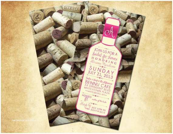 Wine themed Bridal Shower Invitations Wine themed Bridal Shower Invitations