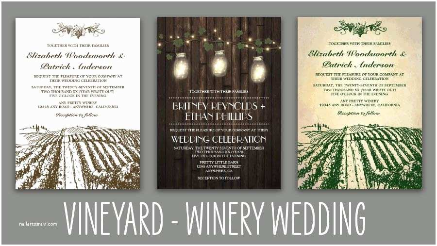 Wine themed Wedding Invitations Home Vintage Rustic Wedding Invitations