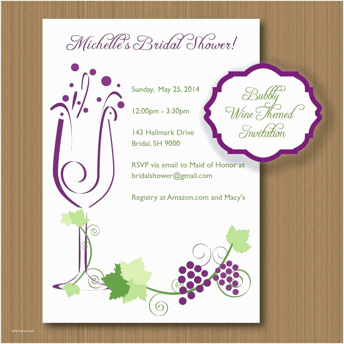 Wine themed Wedding Invitations Printable Wine themed Invitations