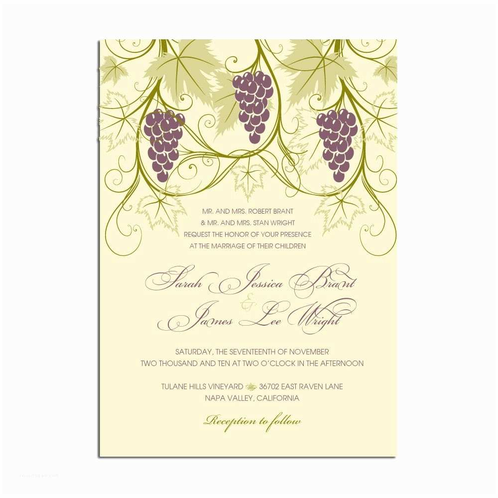 Wine themed Wedding Invitations Vineyard themed Wedding Invitations Stationery by