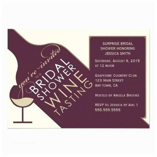 Wine themed Wedding Invitations Vintage Wine themed Bridal Shower Invitations