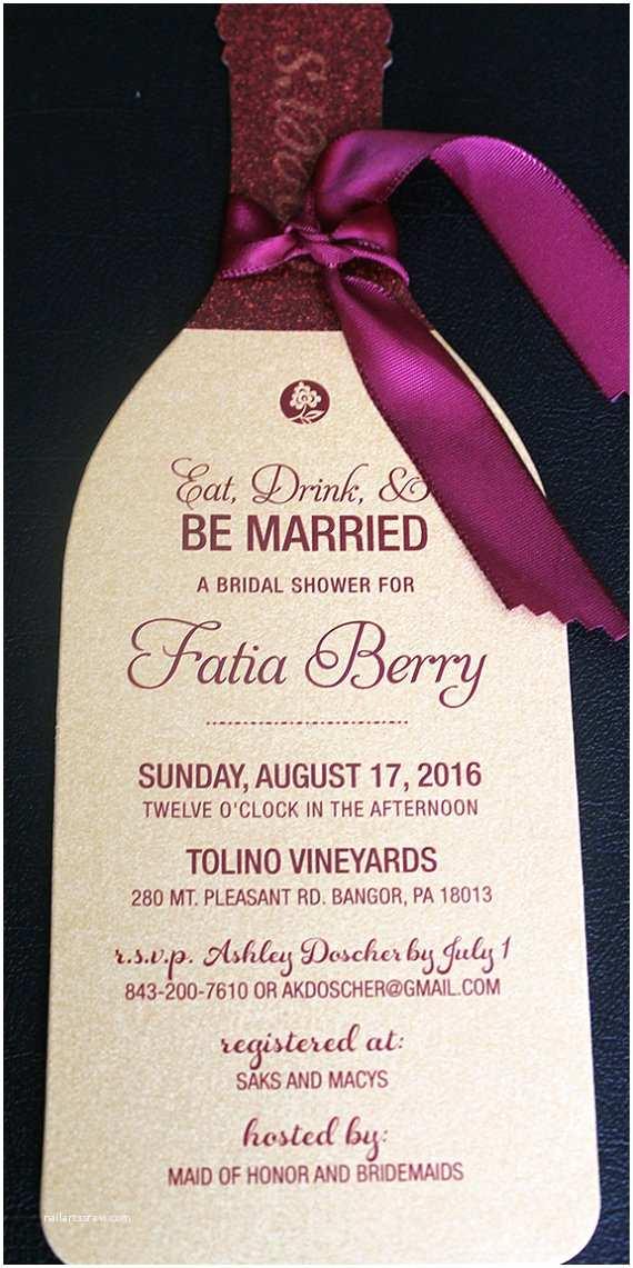 Wine themed Wedding Invitations Wine Bottle Invitation