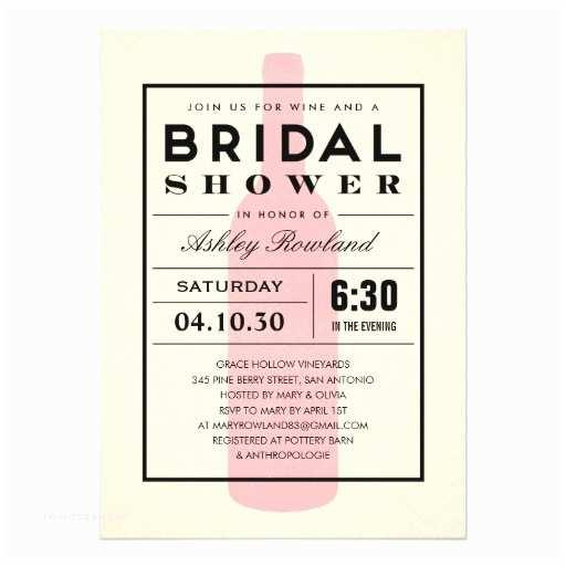 Wine themed Wedding Invitations Wine themed Bridal Shower Invitations
