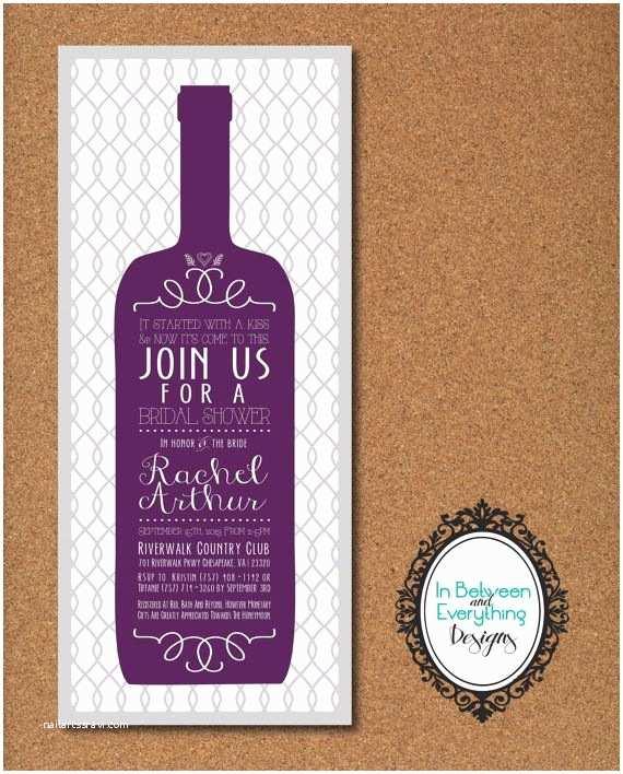 Wine themed Wedding Invitations Wine themed Bridal Shower Winery Bridal Shower Wine