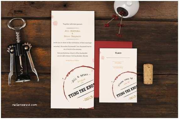 Wine themed Wedding Invitations Wine themed Wedding Invitations Handmade Wedding