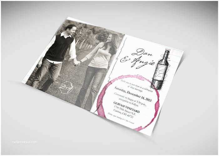 Winery Wedding Invitations Magnificent Winery Wedding Invitations