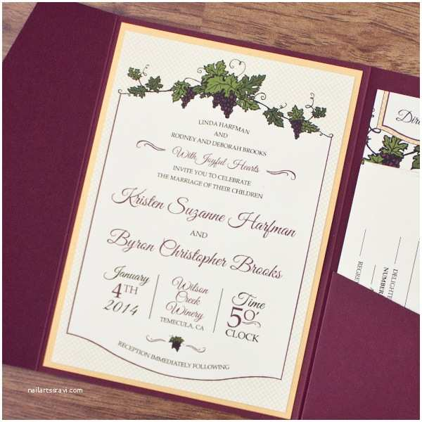 Winery Wedding Invitations Modern Vineyard Wedding Invitations Yaseen for