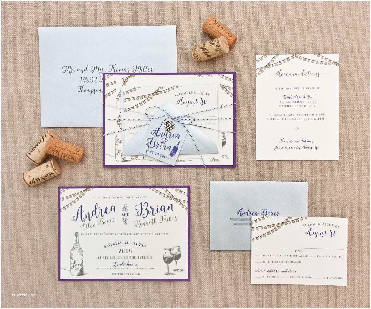 Winery Wedding Invitations Vintage Outdoor Vineyard Wedding Invitation