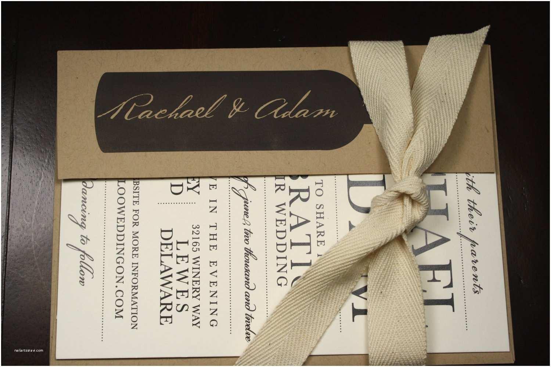 Winery Wedding Invitations Wedding Invitation Rustic Vineyard sonoma by Seahorsebendpress