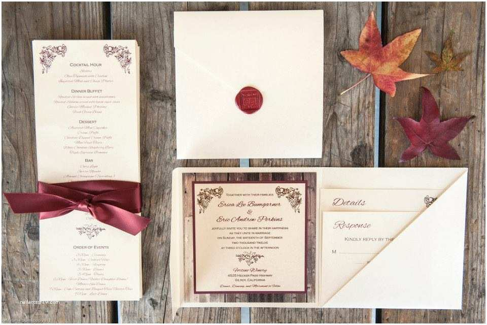 Winery Wedding Invitations Weddings Sleepy Hedgehog Press
