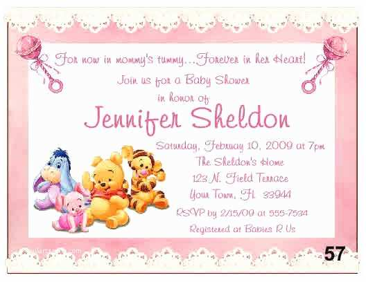 Winnie the Pooh Baby Shower Invitations 20 Baby Winnie the Pooh Baby Shower Invitations