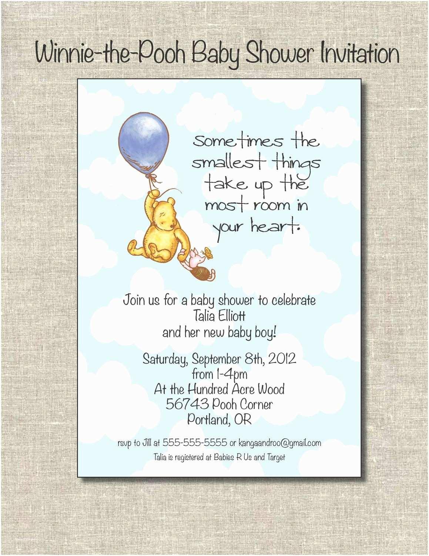 Winnie the Pooh Baby Shower Invitations Winnie the Pooh Baby Shower Ideas On Pinterest
