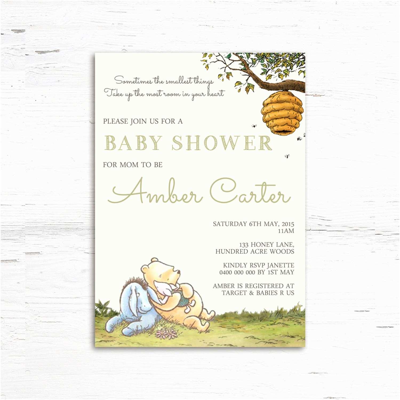 Winnie the Pooh Baby Shower Invitations Winnie the Pooh Baby Shower Invitation by Prettylittleinvite