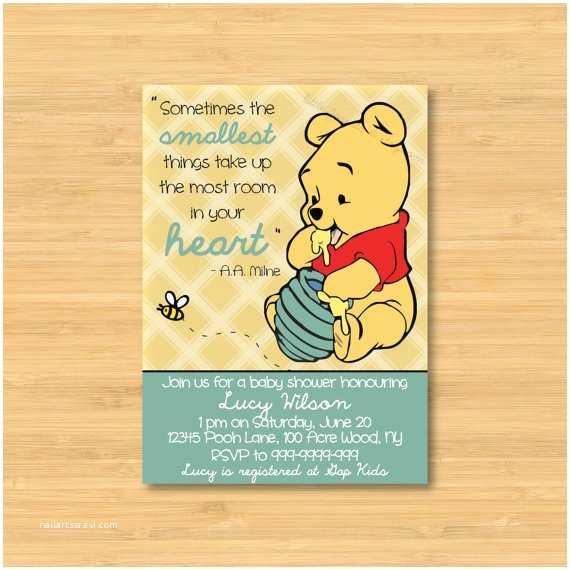 Winnie the Pooh Baby Shower Invitations Winnie the Pooh Baby Shower Invitation Printable the