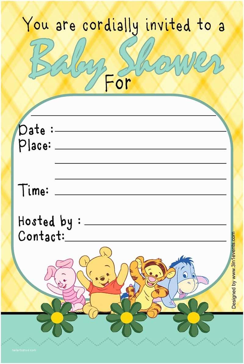 Winnie the Pooh Baby Shower Invitations Winnie the Pooh Baby Shower Invitations Templates