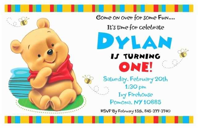 Winnie the Pooh Birthday Invitations Free Printable Winnie the Pooh Birthday Invitations