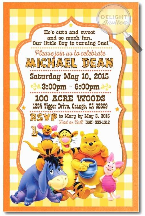 winnie the pooh birthday invitations p 2858