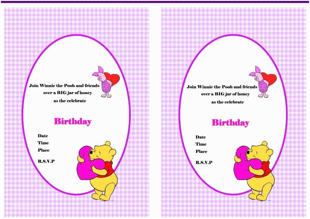 Winnie the Pooh Birthday Invitations Winnie the Pooh Birthday Invitations – Birthday Printable
