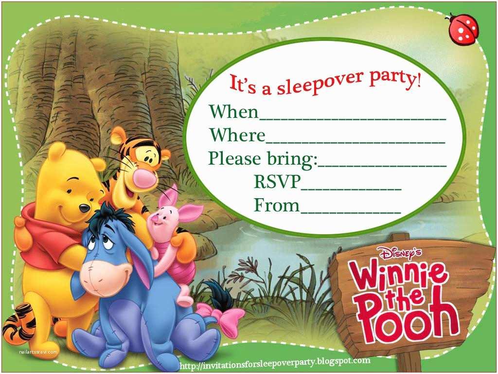 Winnie the Pooh Birthday Invitations Winnie the Pooh Birthday Party Invitations