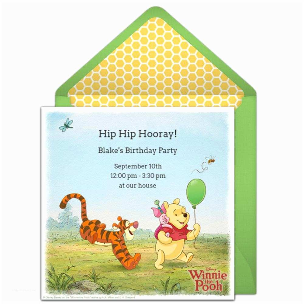 Winnie the Pooh Party Invites 22 Custom Birthday Invitations