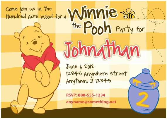Winnie the Pooh Party Invites Free Printable Winnie the Pooh Invitations for 1st