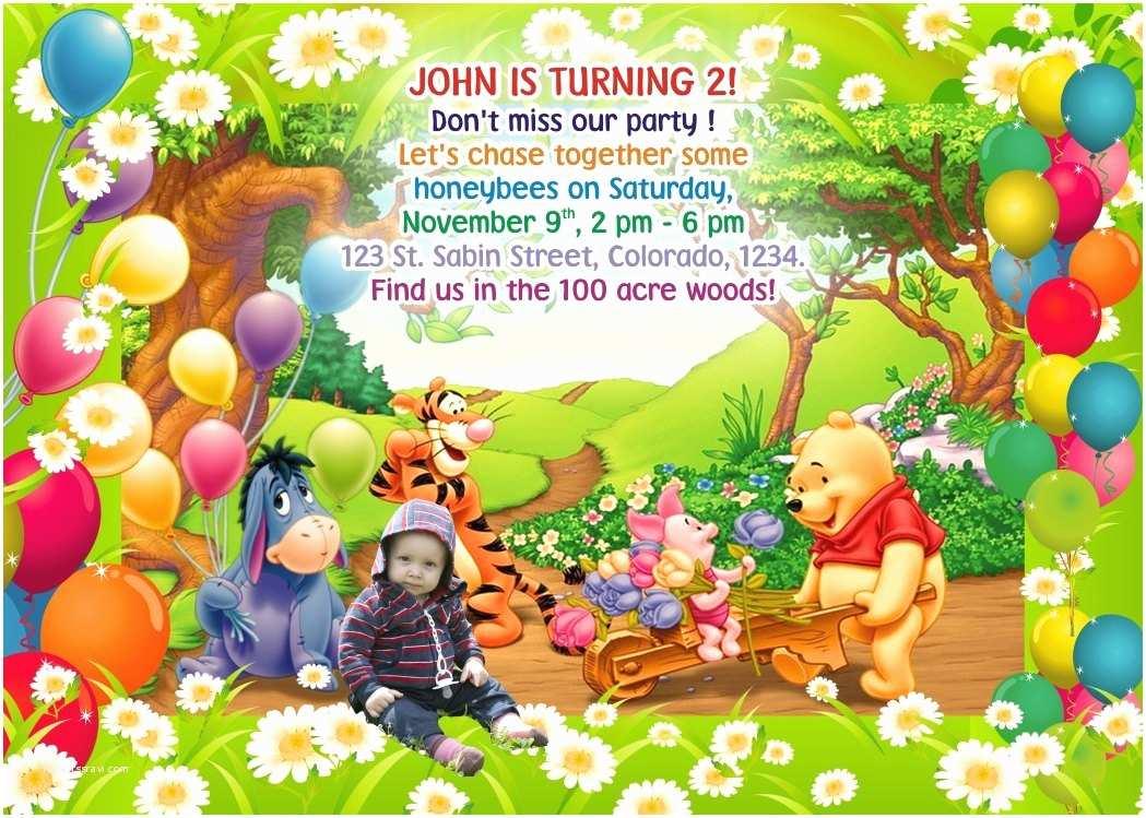 Winnie the Pooh Party Invites Winnie Invitation Winnie the Pooh Birthday Invitation Pooh